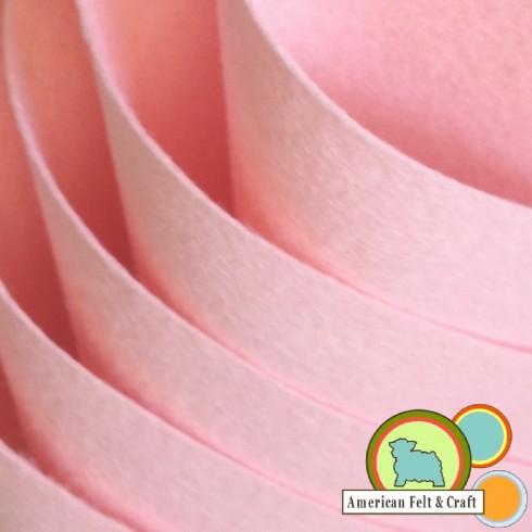 soft baby pink wool felt