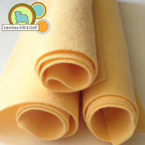 pale yellow orange felt sheets