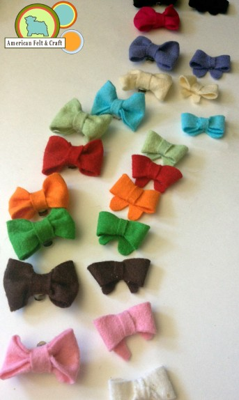 Tutorial for felt bows and bow ties from American Felt and Craft
