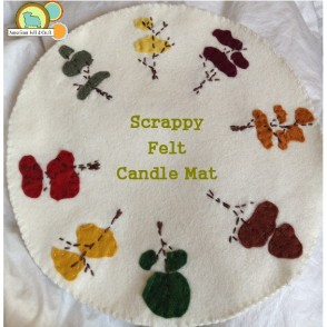 Pattern for fall trees candle mat