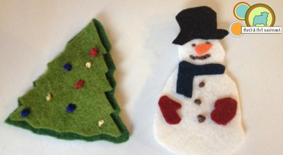 Felt Snowman and Tree