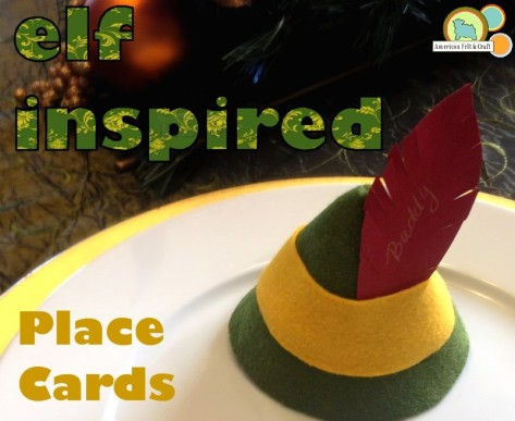 Felt Elf Hat Place Cards tutorial