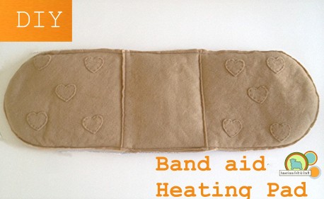 Bandaid bandage heating pad diy