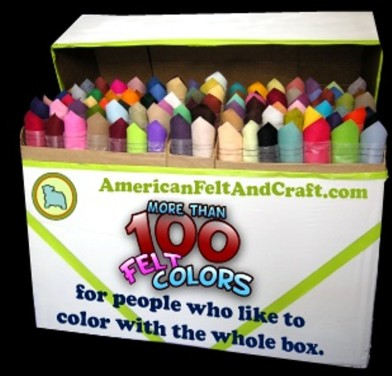 Color With the Whole Box - American Felt and Craft online felt store