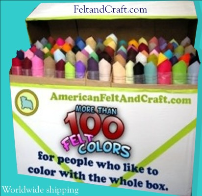 American Felt and Craft online felt and craft store , over 100 colors of felt by the sheet! Ships worldwide.