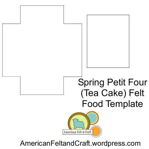 Petit Four Felt Cake Template