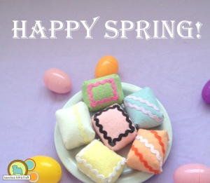 Felt spring petit fours Craft
