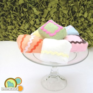 Felt Petit Four Tutorial Beginner friendly felt food