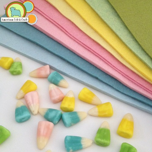 Easter Felt Palette - American Felt and Craft carries over 100 colors!