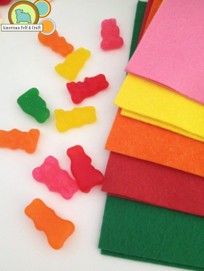 Felt color pallet -  Gummy Candy  - American Felt and Craft Felt Supply