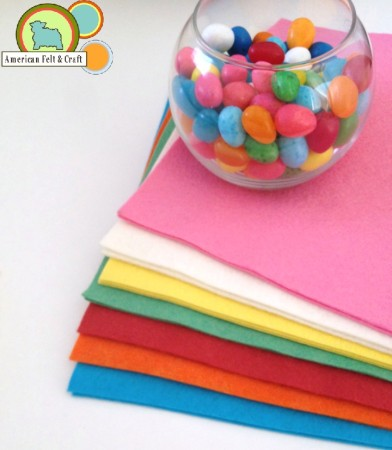 Candy Colored Felt From American Felt and Craft.