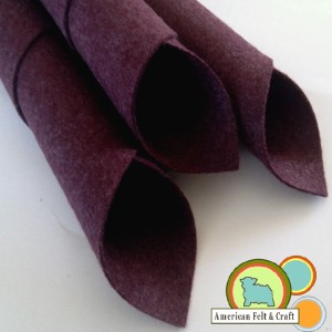 eggplant felt sheets American Felt and Craft