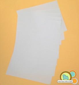Printer sized freezer paper