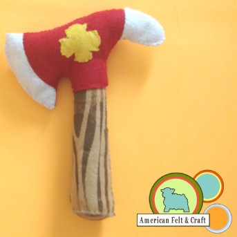 Fireman's Axe Baby Rattle Tutorial