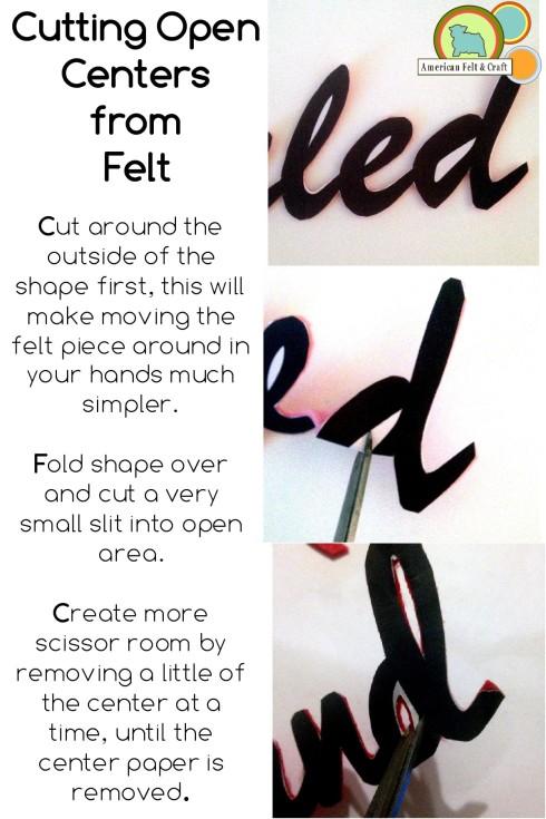 Cut open centers from felt