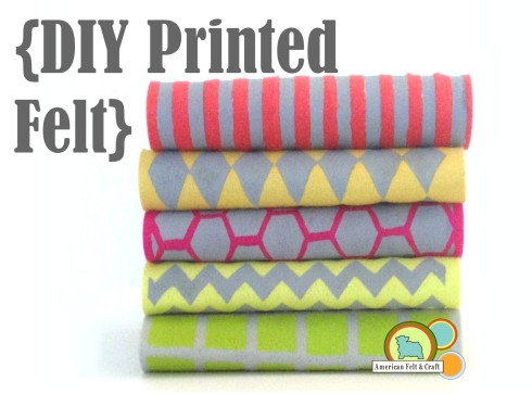 DIY Printed Felt