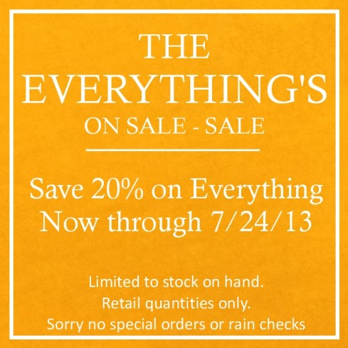 The Everything's on Sale - Sale Ends Soon