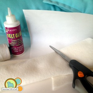 Felt pillow supplies