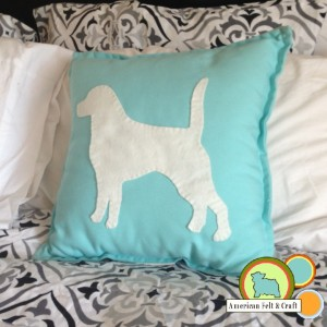 Felt Beagle Pillow tutorial