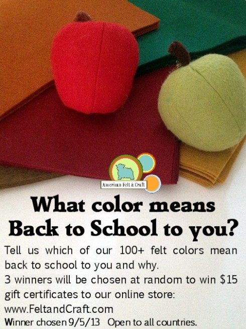 What color means back to school felt color contest