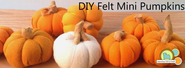 DIY Plush Felt Pumpkin tutorial ~ American Felt and Craft
