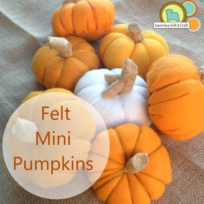 DIY mini felt pumpkin felt food tutorial