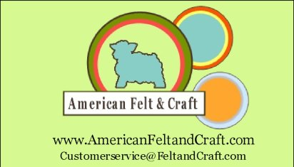 See our full line of Felt & craft supplies at American Felt & Craft.