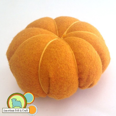 Felt Pumpkin tutorial - step 4