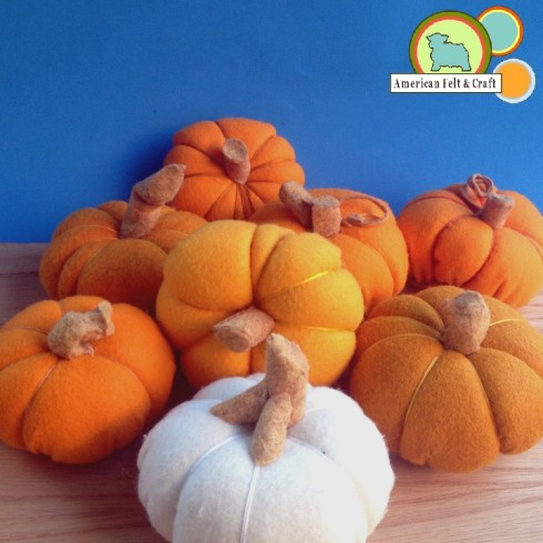 Felt Pumpkin tutorial - American Felt and Craft