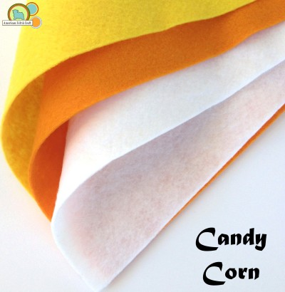 Candy Corn Felt Colors