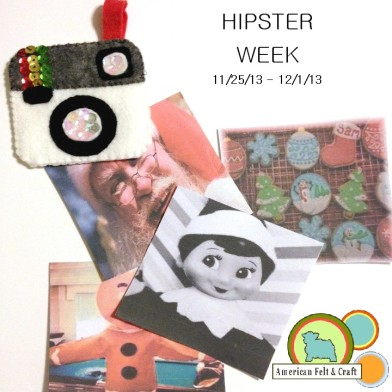 Felt camera ornament tutorial