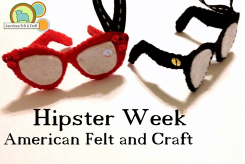 Hipster week - Felt Ornaments American Felt and Craft the Blog
