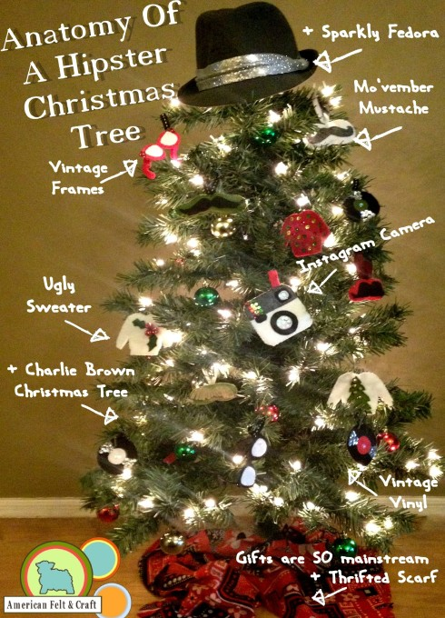 Anatomy of a Hipster Christmas Tree