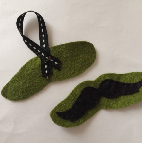 Felt Mustache Ornament Tutorial