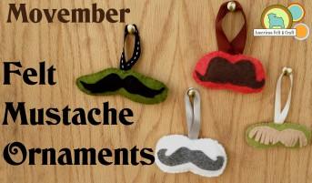 Felt Mustache Ornaments