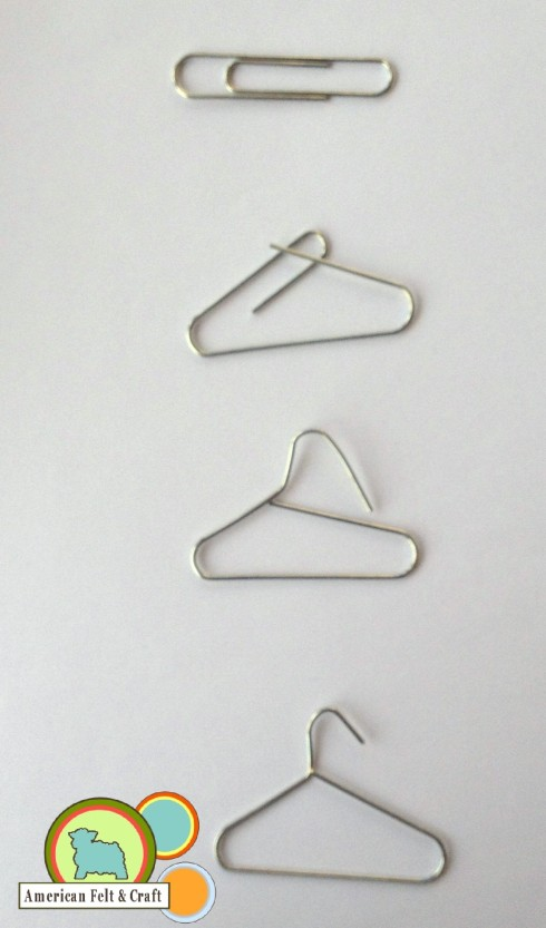 Tiny Paper Clip Hangers Tutorial