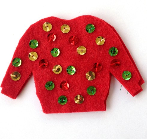 Christmas Confetti Ugly Sweater Party Felt Ornament Tutorial American Felt and Craft