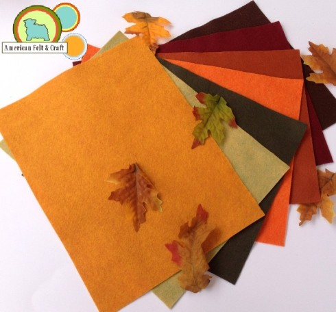 Leaf Peeping - Fall Felt Colors