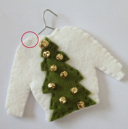 Ugly Christmas Sweater Ornaments Hipster Christmas