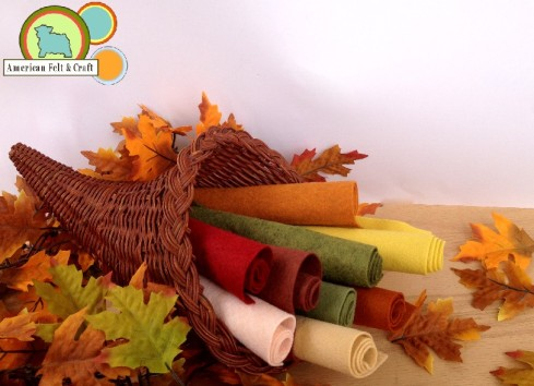 Bushel of Blessings: Autumn Leaves, Poinsettia, Nutmeg, Cactus, Banana Cream Pie, Bisque, Pastry, Sweet Pea, and Penny felt sheets.