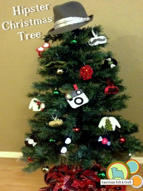 Hipster Tree Felt Ornament Tutorials American Felt and Craft
