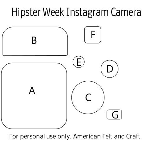 Felt Camera Pattern - Please do not pin pattern