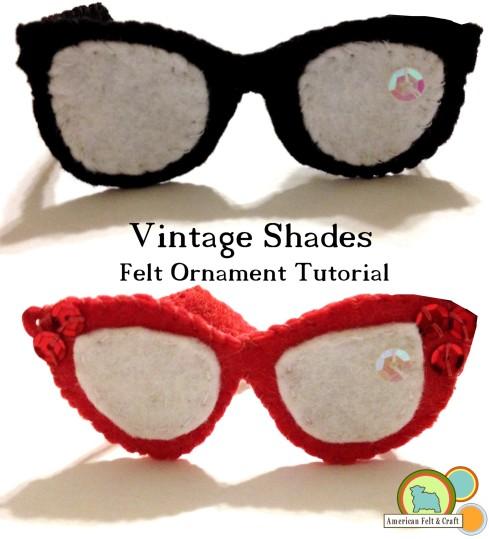 óculos vintage em feltro.