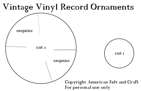record template for felt ornament