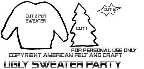 Ugly Sweater Ornament Pattern- Template
