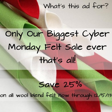 American Felt and Craft Cyber Monday Sale