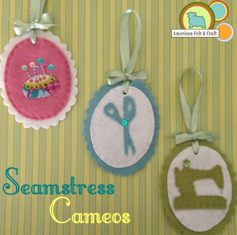 Seamstress Cameo Felt Ornaments- Domestic Bliss Week