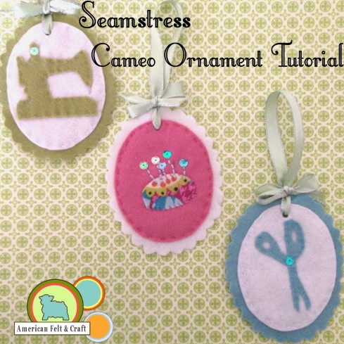 DIY Felt Cameo Ornaments