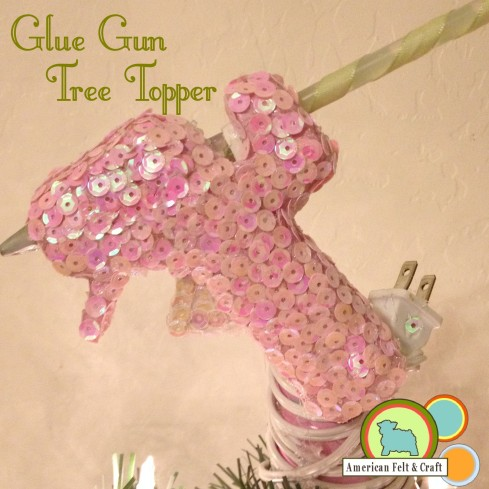 Mini Glue Gun Christmas Tree Topper Tutorial