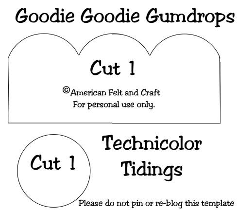 DIY felt gumdrop template